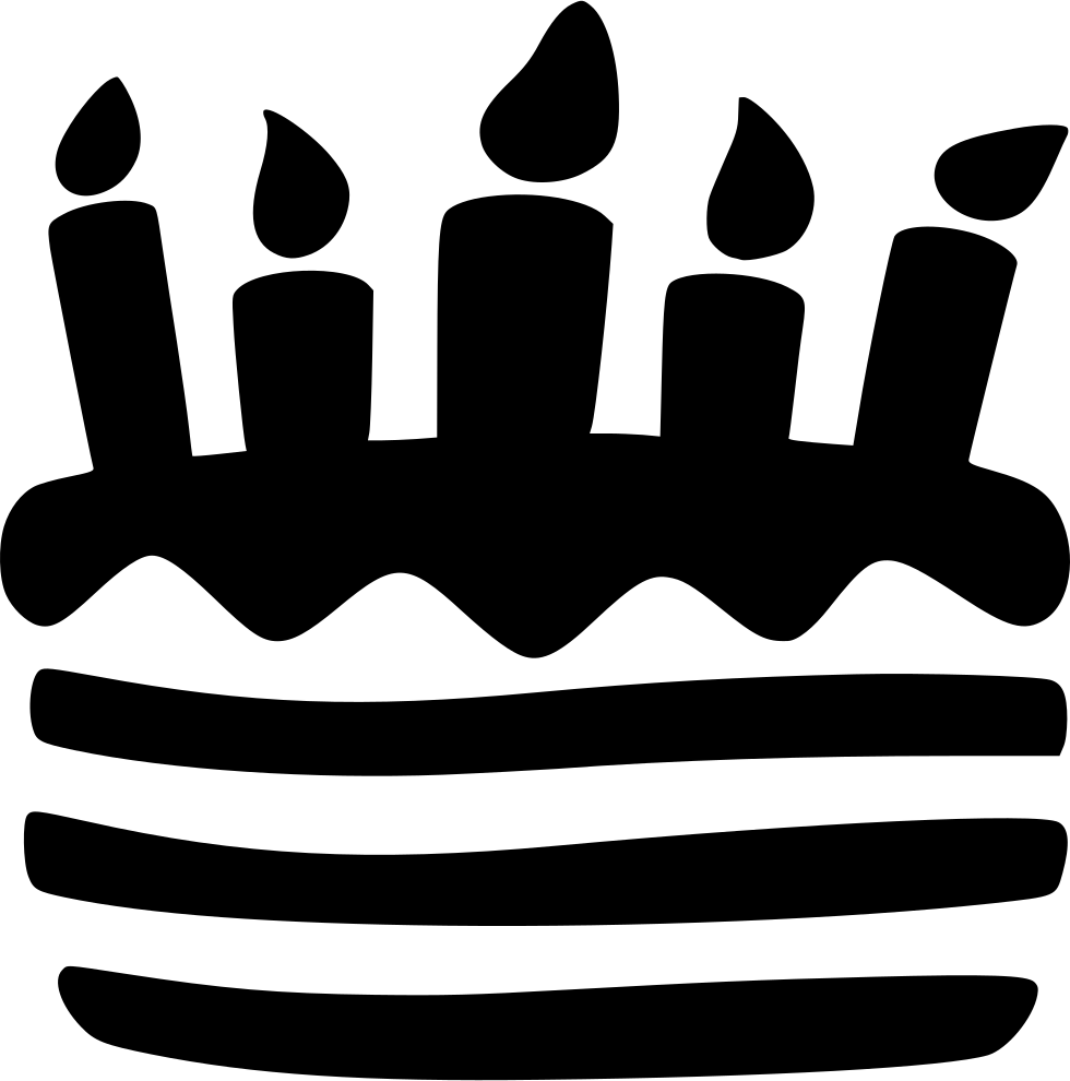 Birthday cake silhouette png. Free icon download birthdaycake