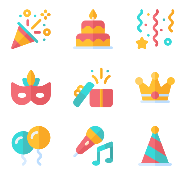 Birthday icon png. Surprise packs vector