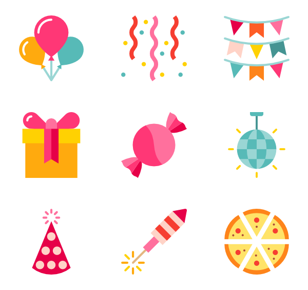 icon packs vector. Transparent decoration birthday image transparent download