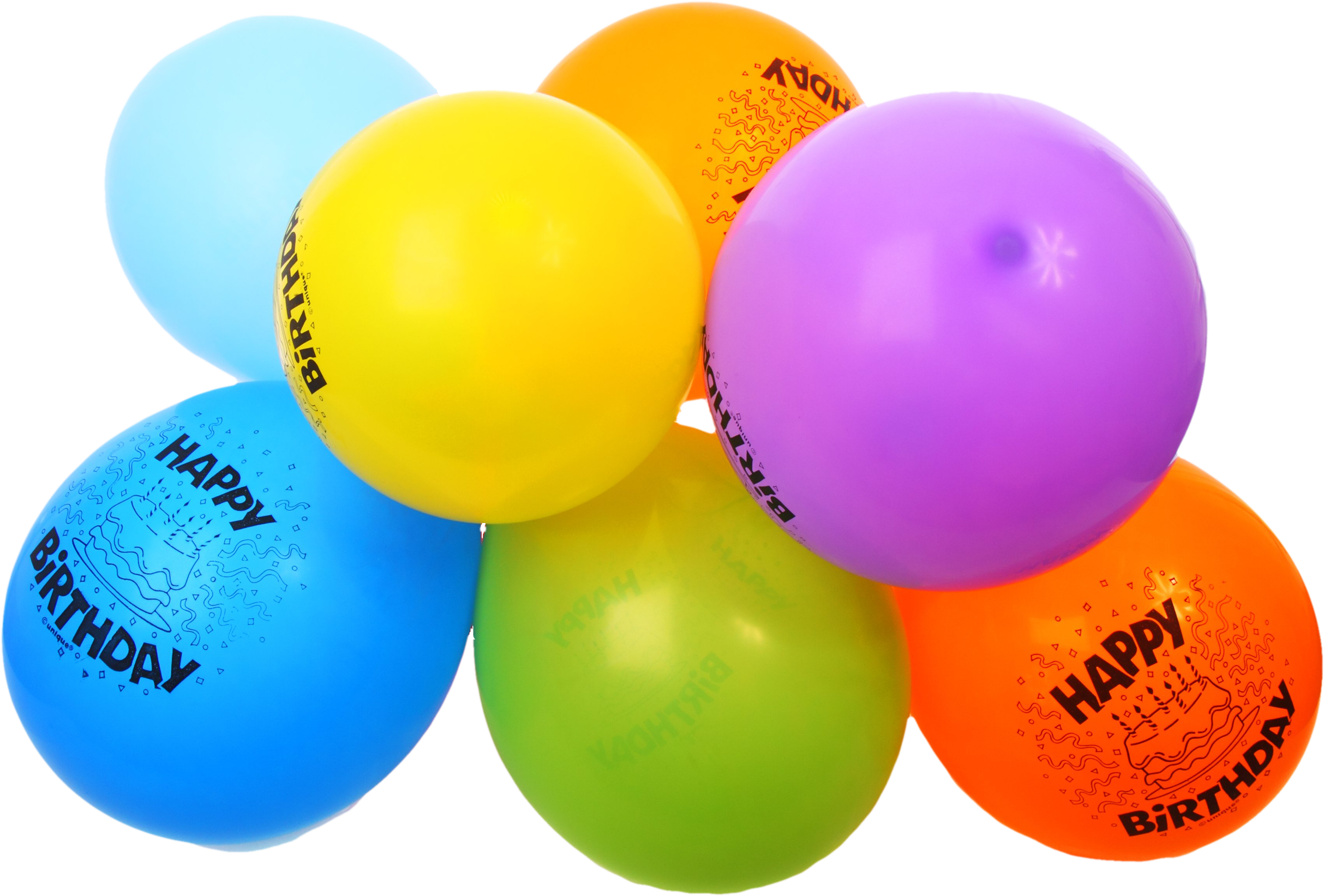 Free colorful happy balloons. Birthday images png royalty free library