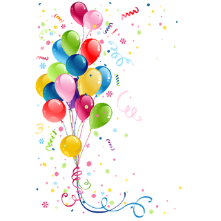 Balloons party png free. Transparent decoration birthday graphic library