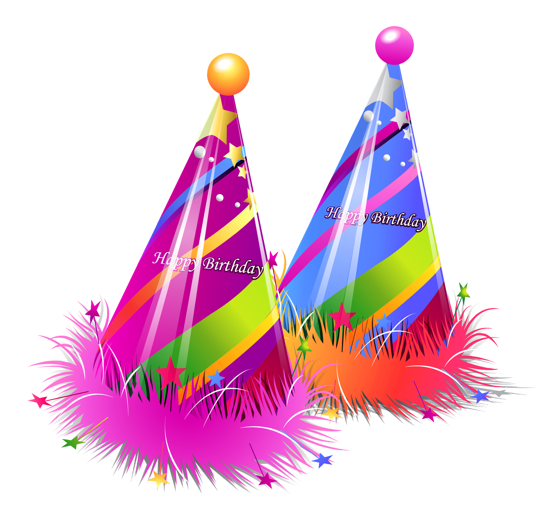 Birthday party png. Happy hats transparent clipart