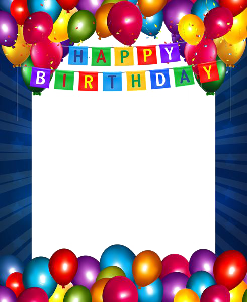 Birthday photo frame png. Collage transparent images all