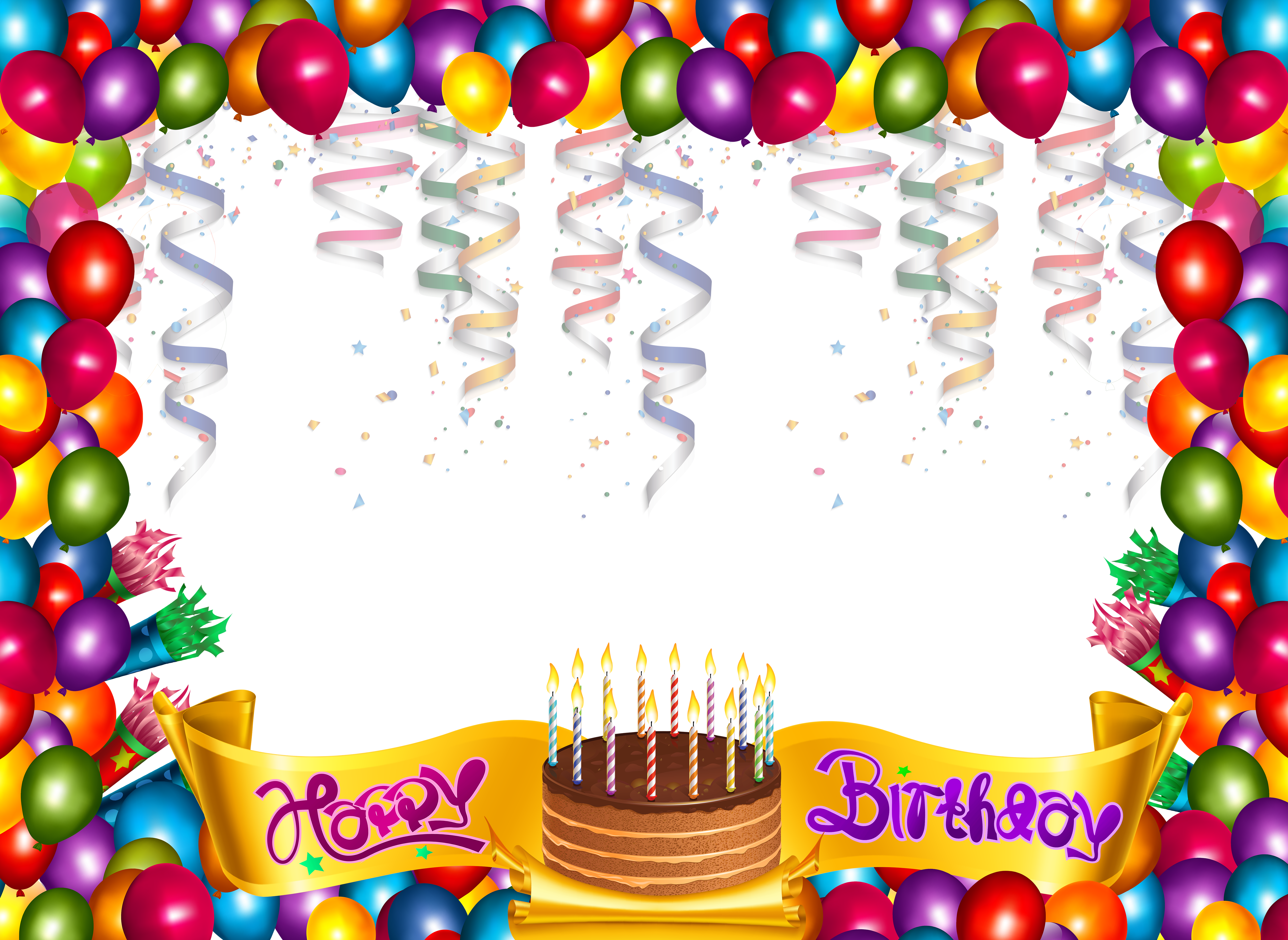 Party frame png. Cute happy birthday carrie