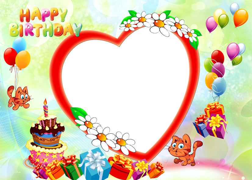 Birthday photo frame png. Happy free download images