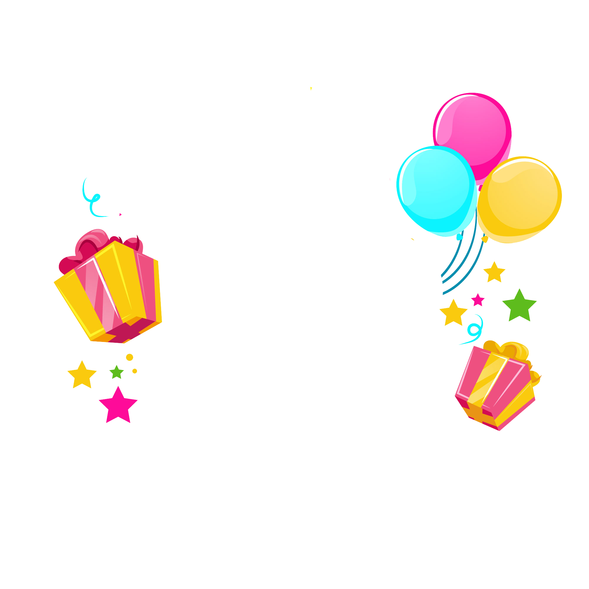 Birthday png. Happy vector clipart psd