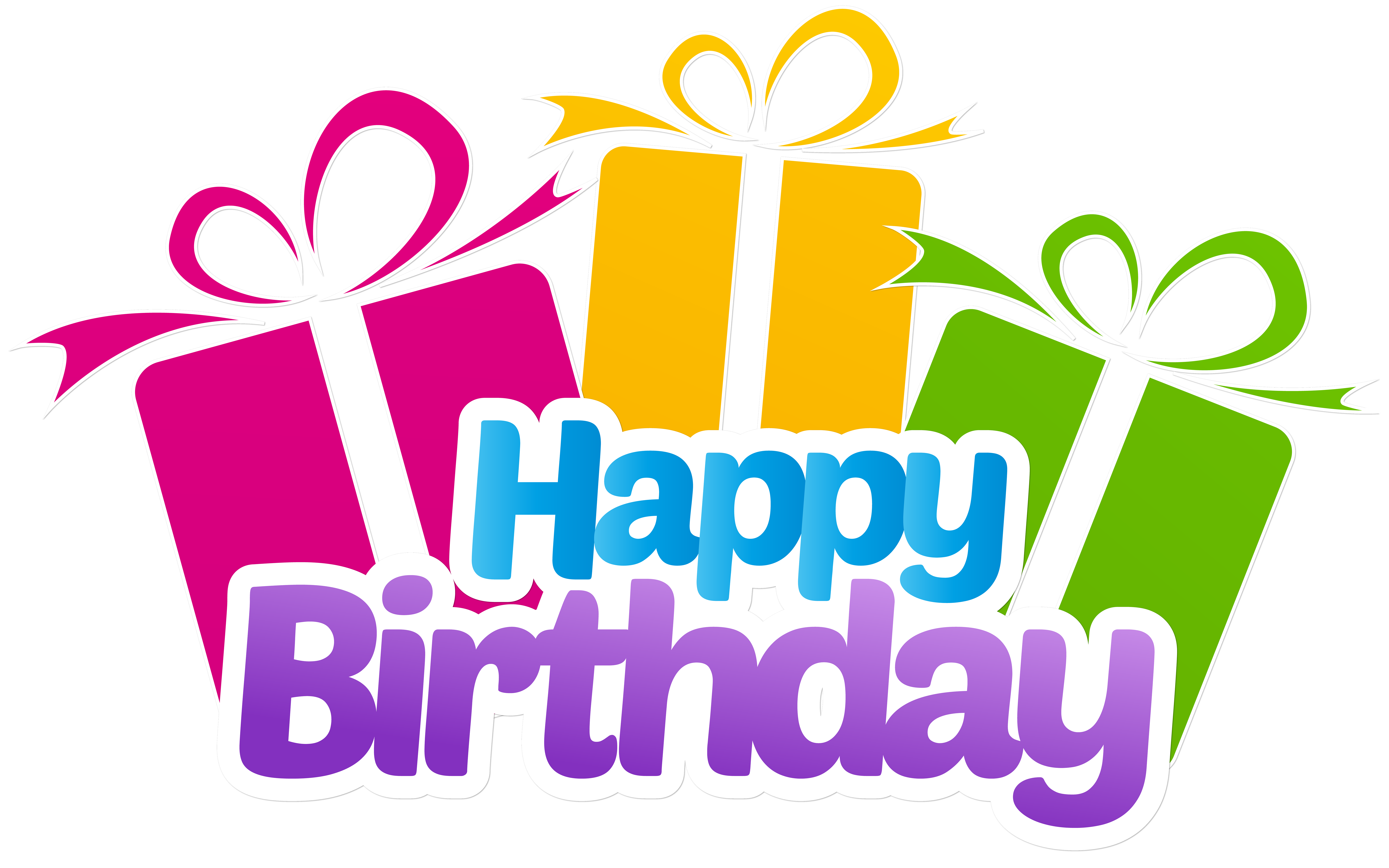 Birthday png. Happy with gifts clip