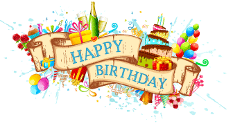 Birthday png. Happy design elements free
