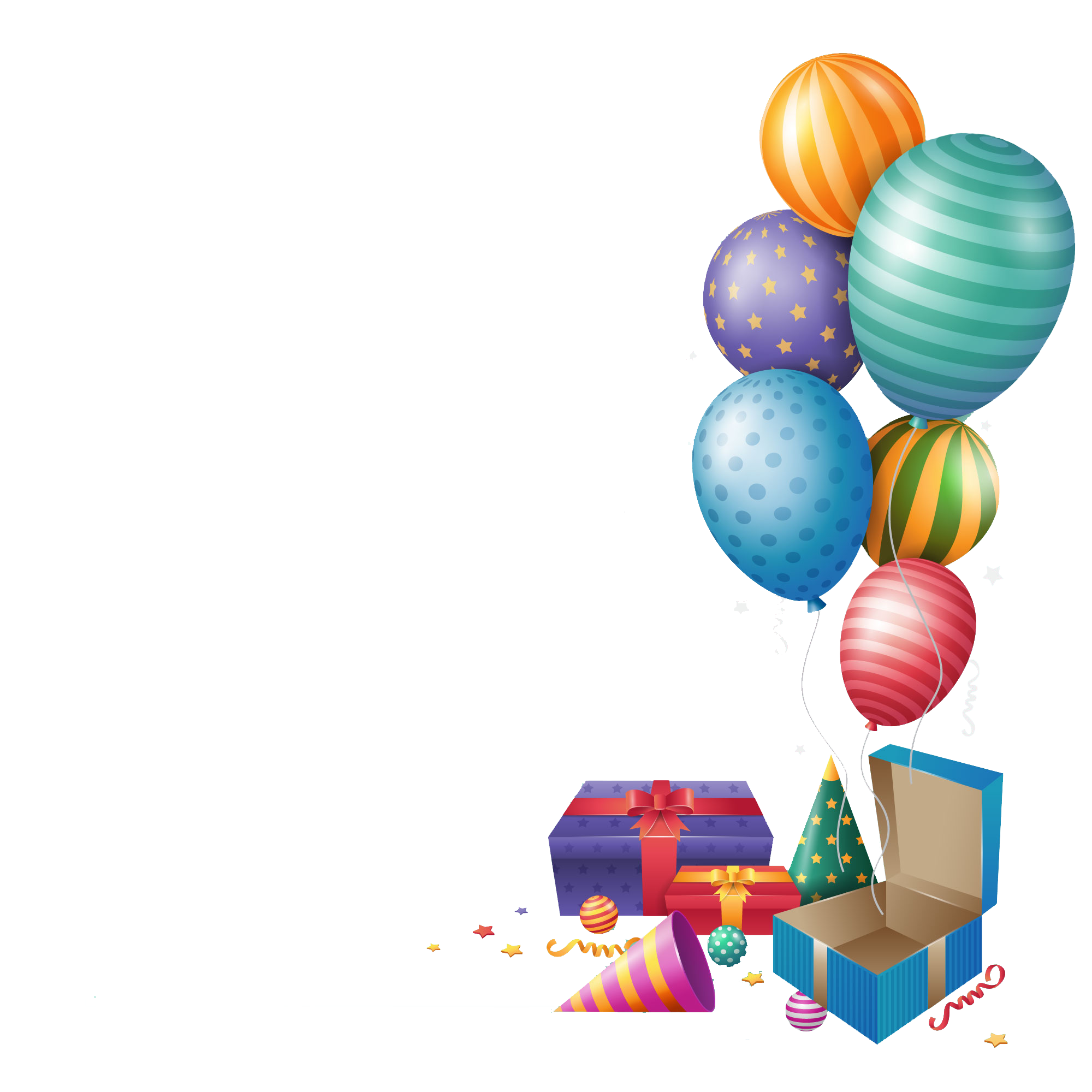 Birthday png images. Happy balloons gift peoplepng