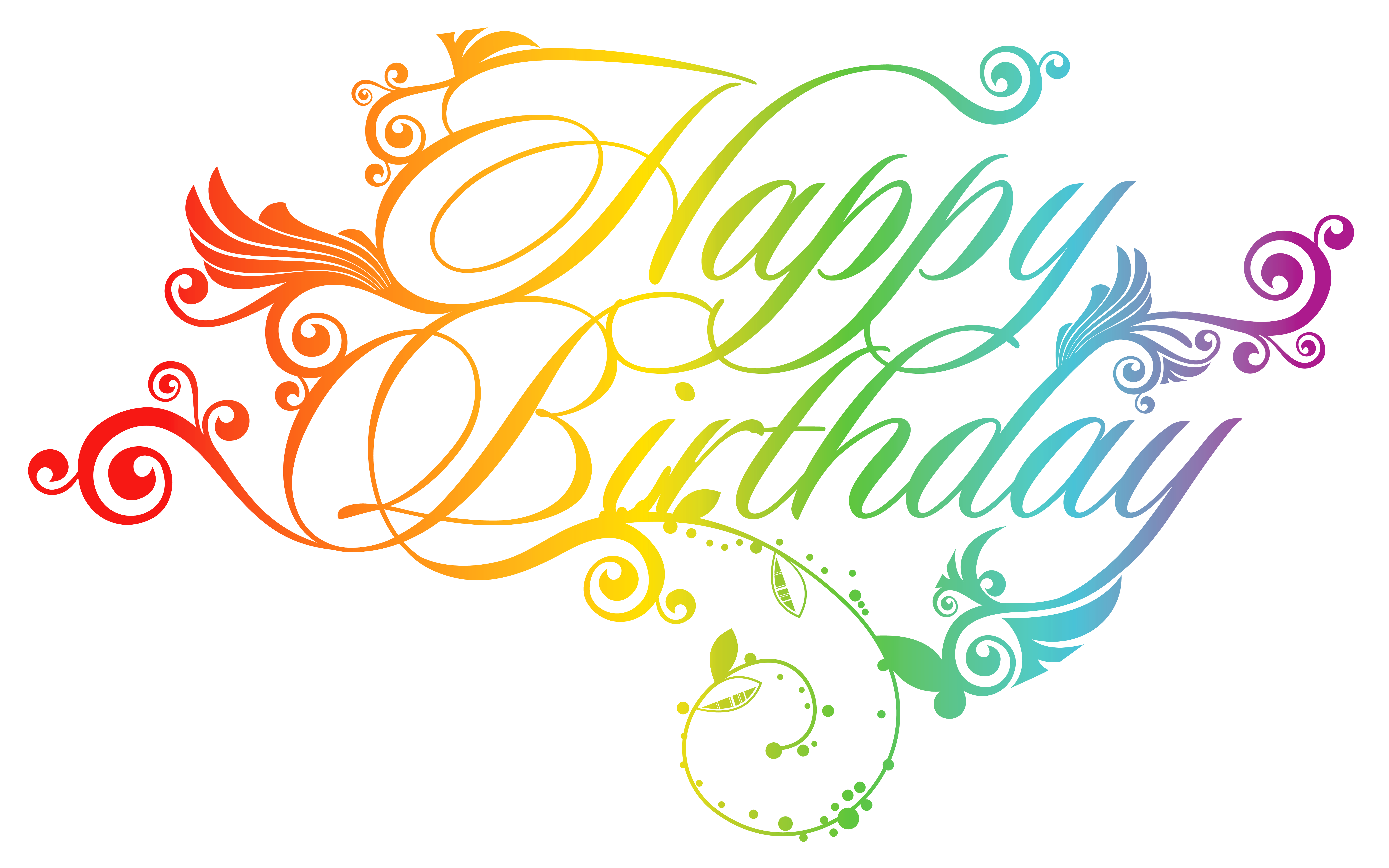 Birthday png images. Colorful happy clipart picture