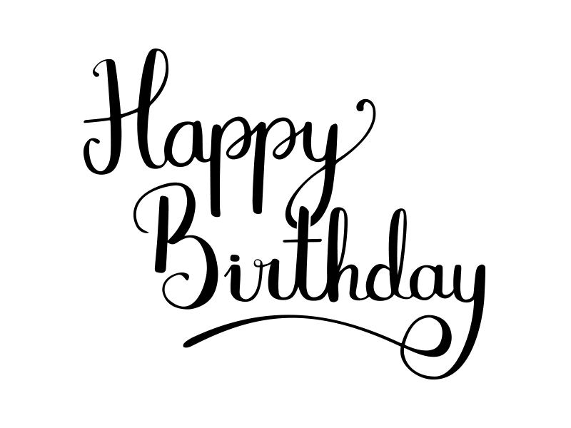 Birthday png text. Dribbble clip art happy