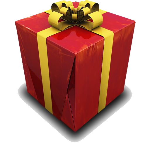 Birthday present png. Gift file mart