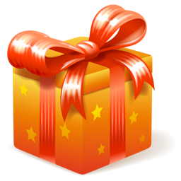 Birthday presents png. Golden gift free icons