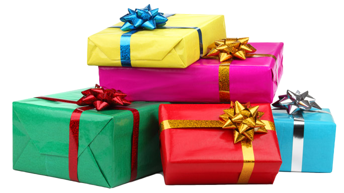Birthday presents png. Unique gifts for your