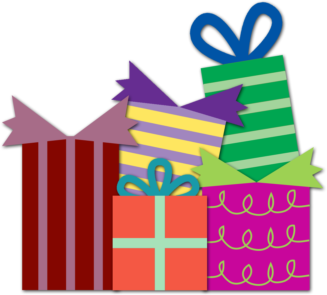 pile of presents png
