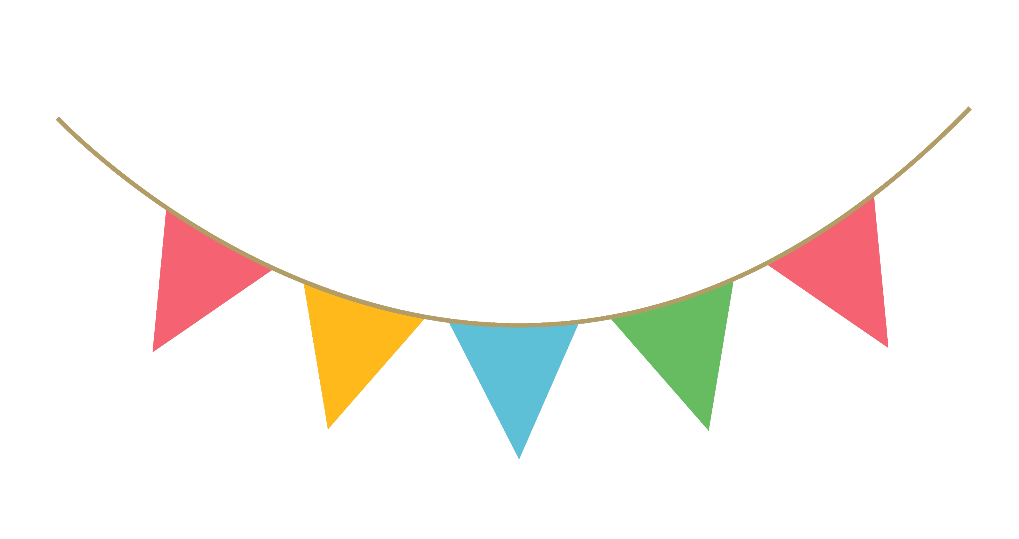 Birthday streamers png. Party streamer decoration image