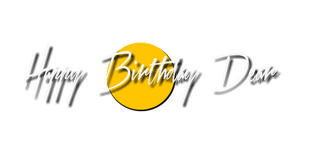 Birthday text png. Happy effect for editing