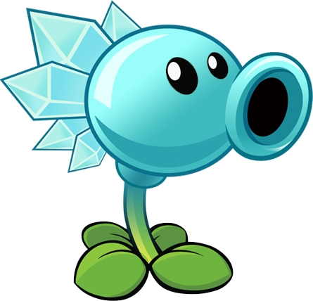 Birthdays plants vs zombies png. Snow pea r by