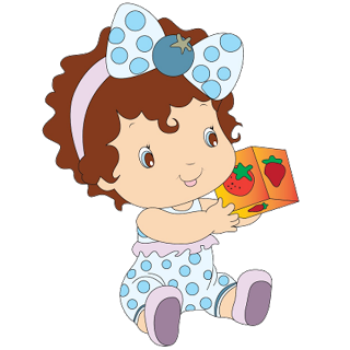 Biscuit drawing strawberry shortcake. Baby images