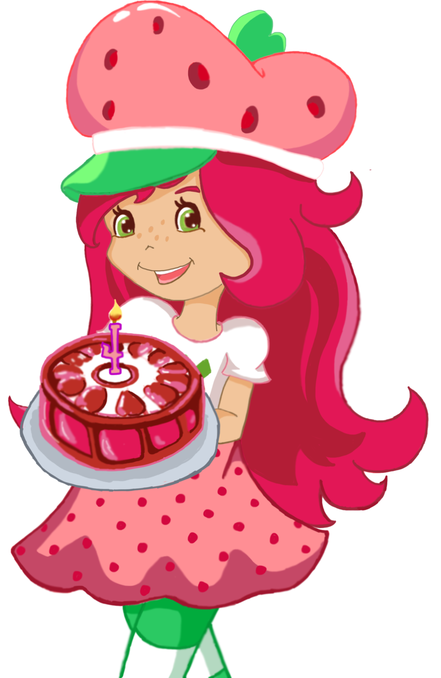 Biscuit drawing strawberry shortcake. By anjiookami