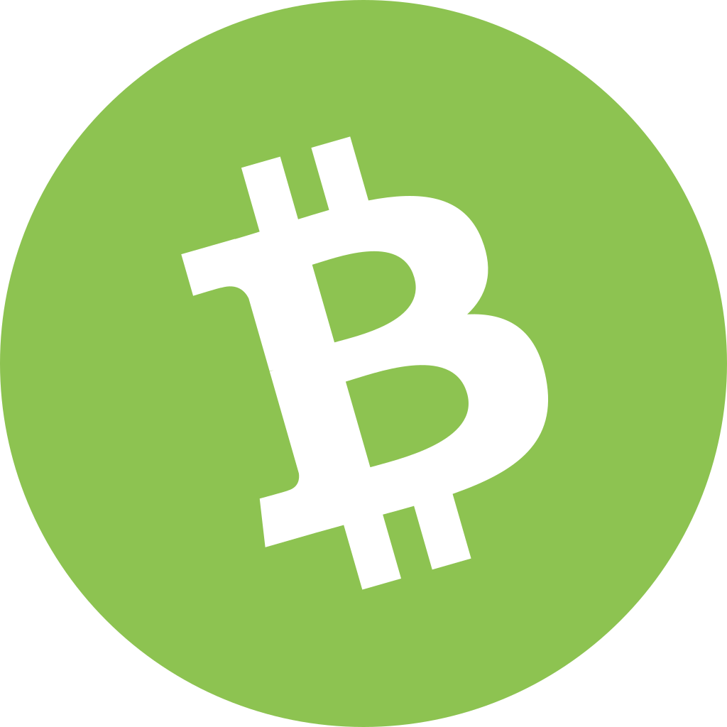 Bitcoin cash png. Bch icon cryptocurrency flat