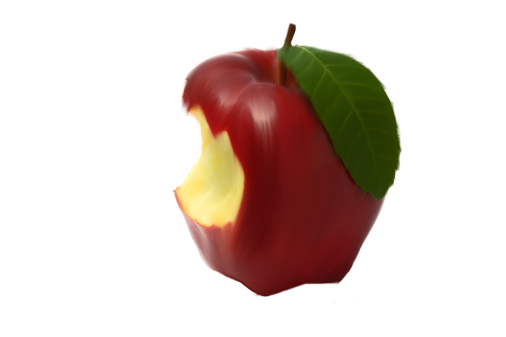 Bitten apple png. By moonglowlilly on deviantart