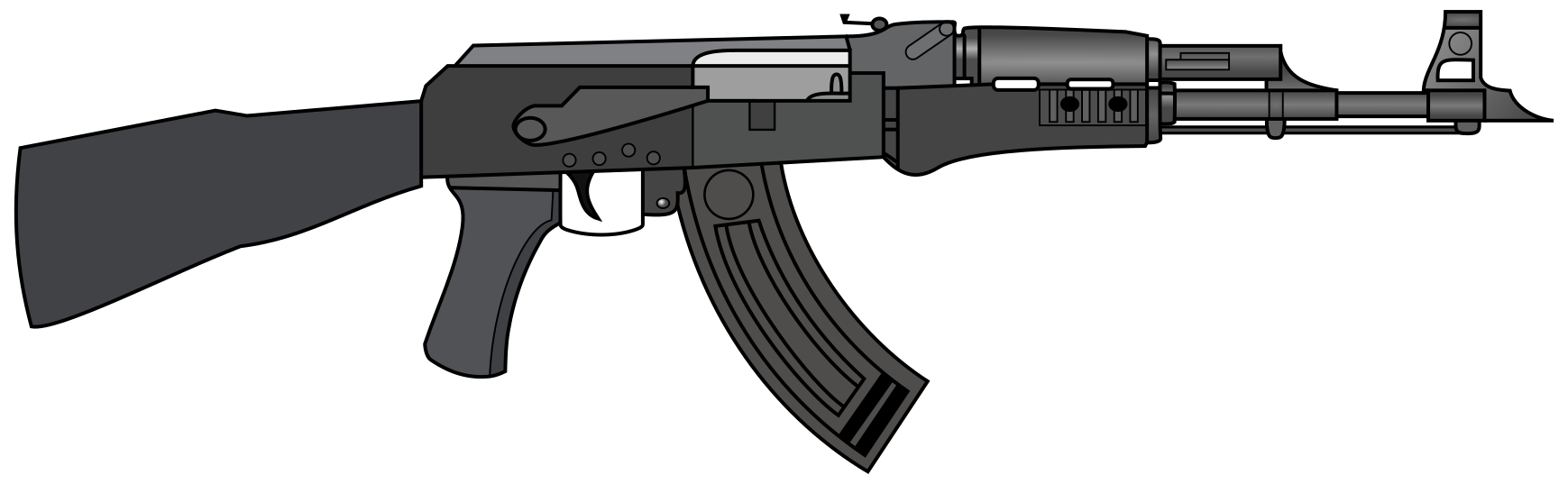 Vector ak47 black and white. Ak weasyl