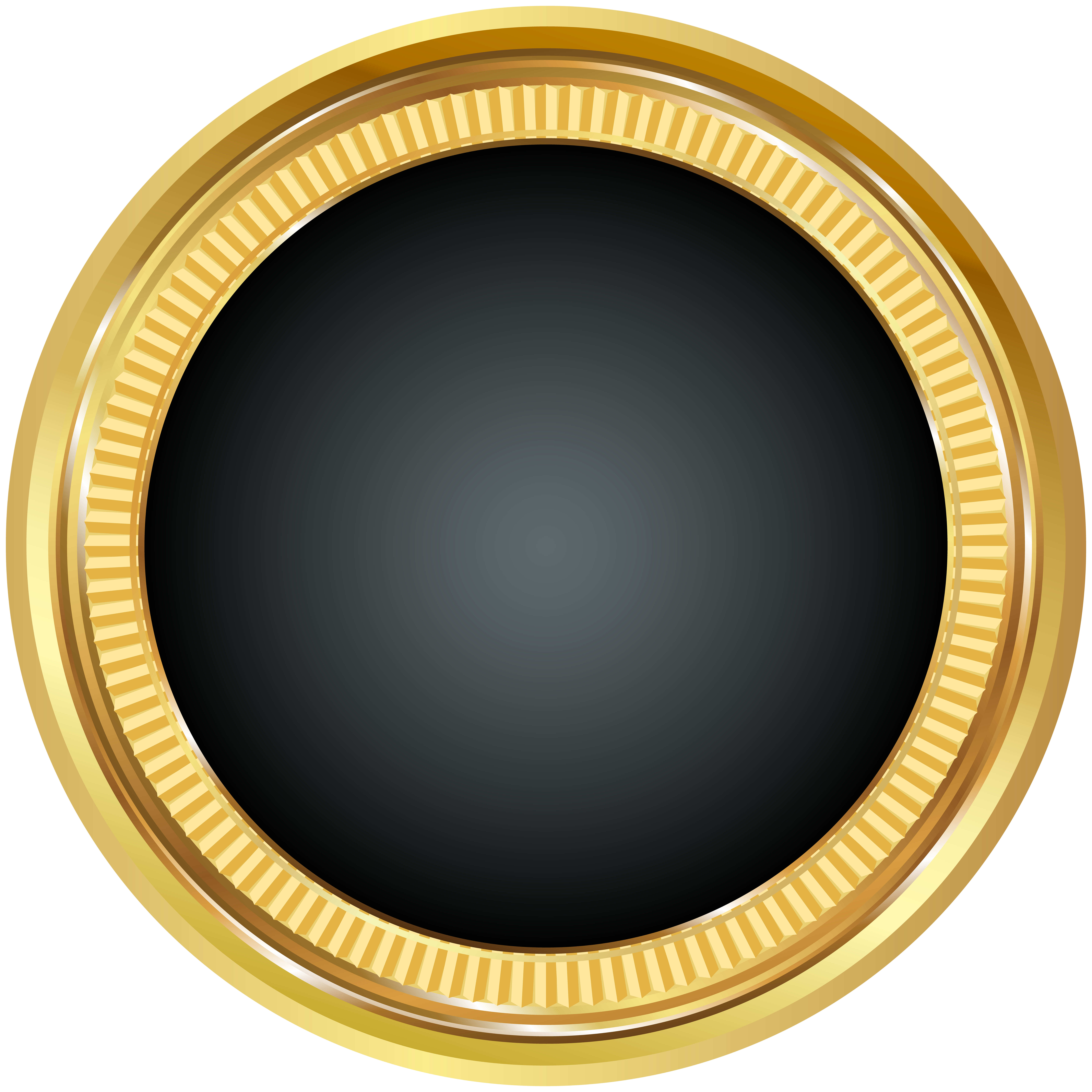 Black and gold backgrounds png. Seal badge clip art