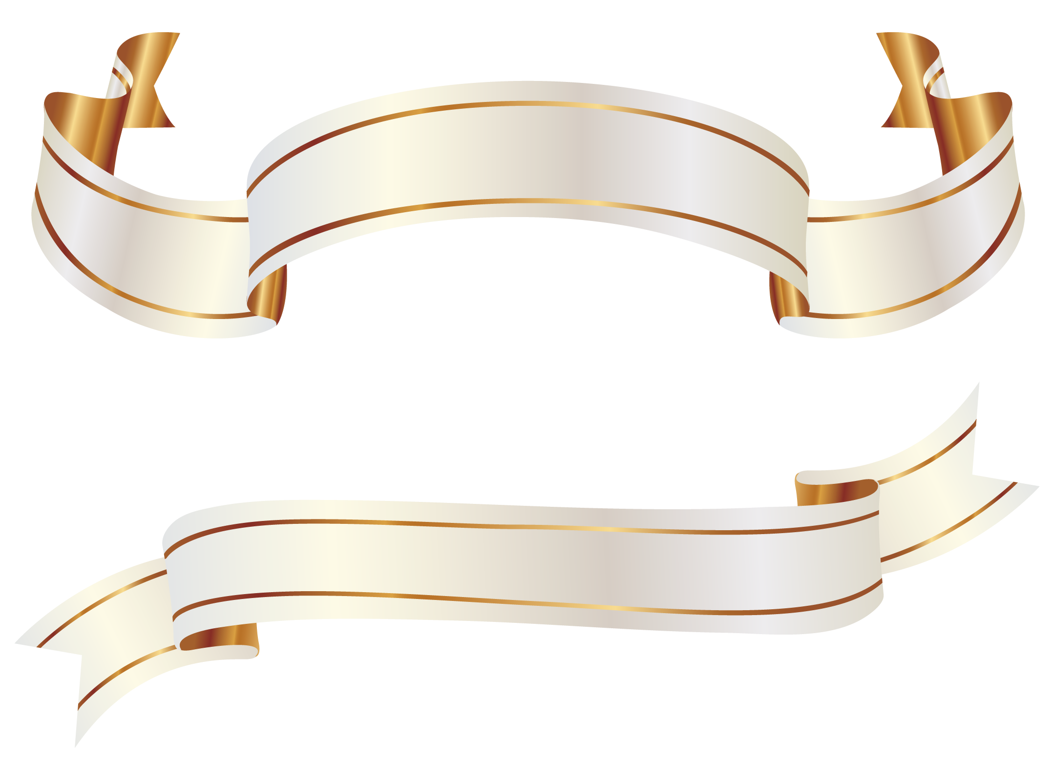 Black and gold banner png. White banners clipart picture