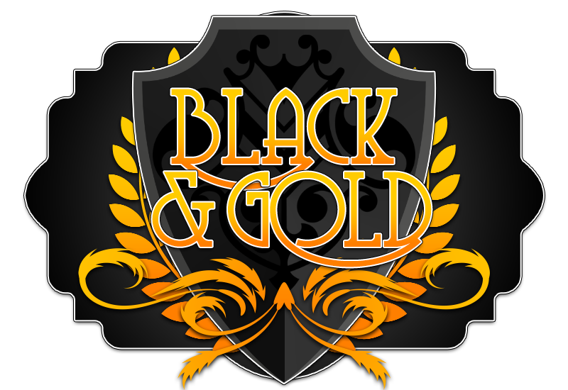 Black and gold banner png. Welian design