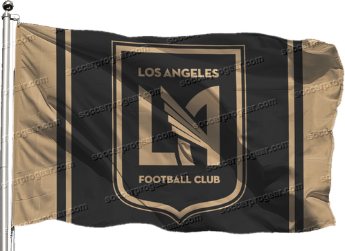 Black and gold banner png. Lafc flag x