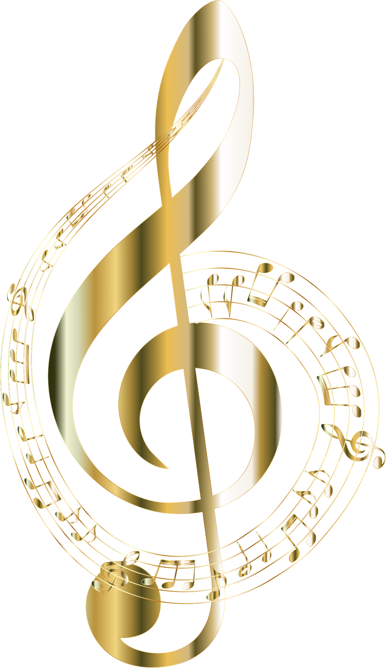 Music note png gold