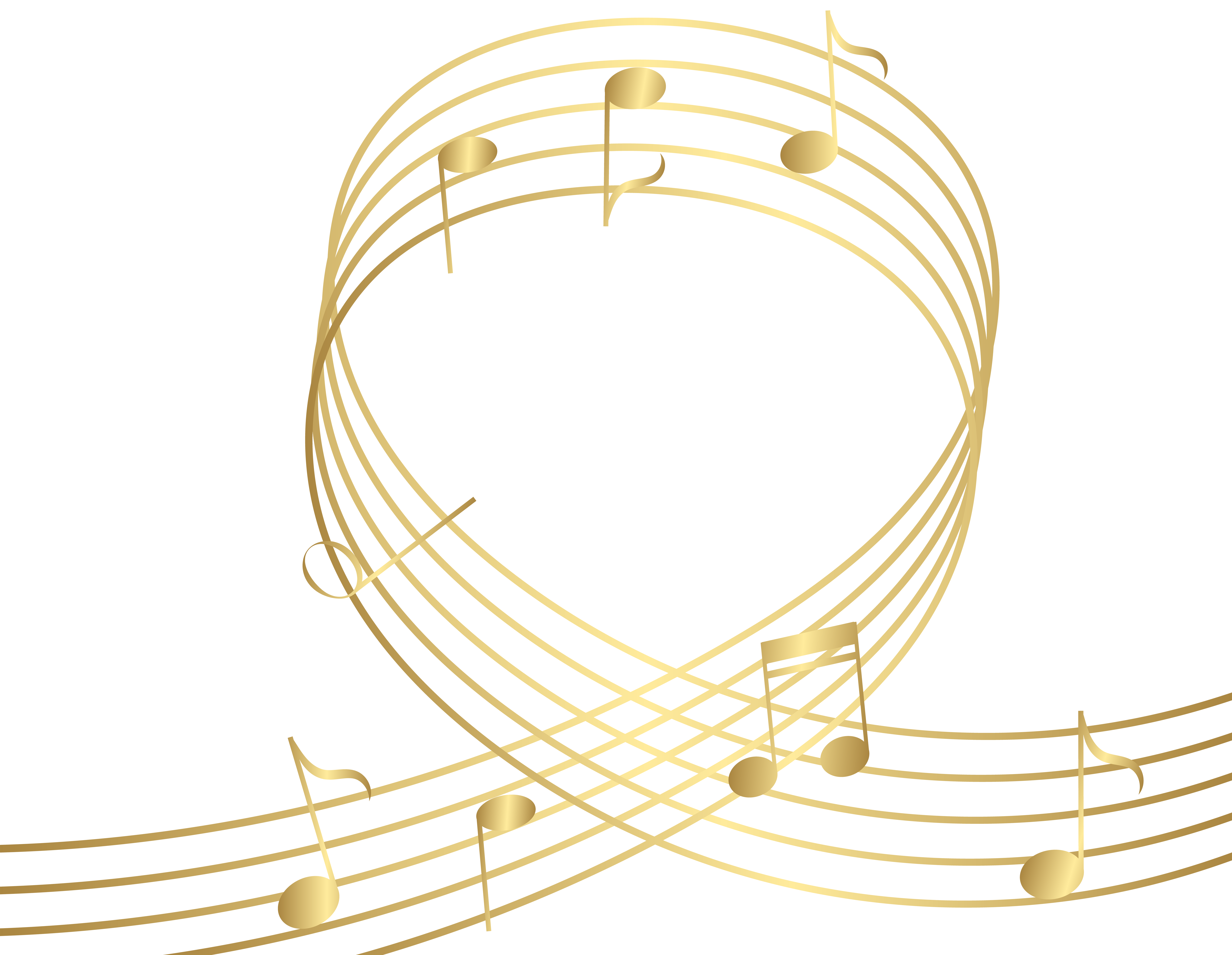 Golden music note png. Gld notes transparent clip
