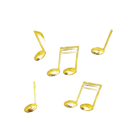Golden music note png. Notes metallic gold