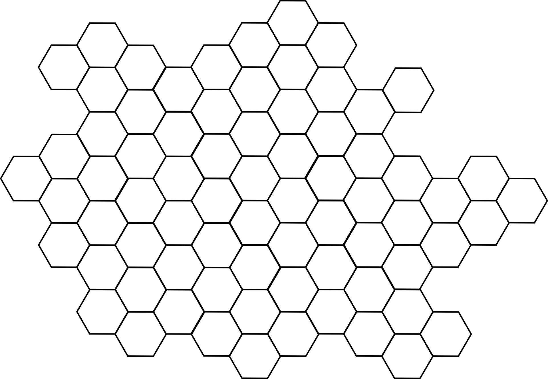 Vector sketches pattern. Honeycomb grid hexagon patterns