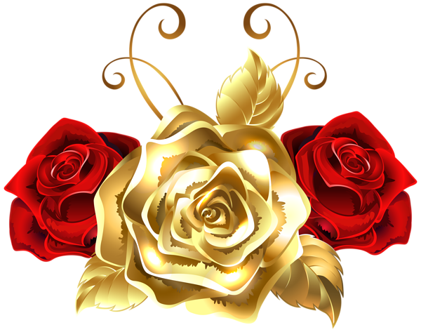 Black and red rose letters png. Gold roses clip art