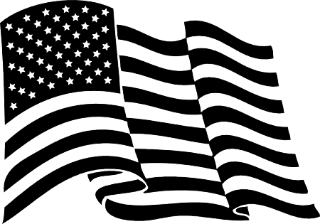 Black and white american flag png. Waving quick view
