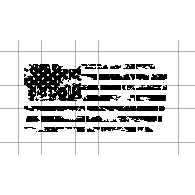 Black and white american flag png. Distressed sticker fast lane