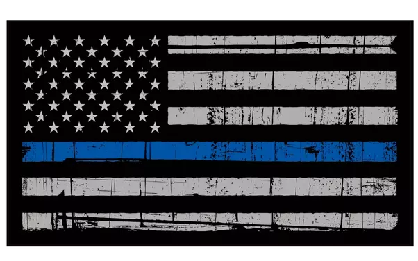 Black and white american flag png. What does the blue