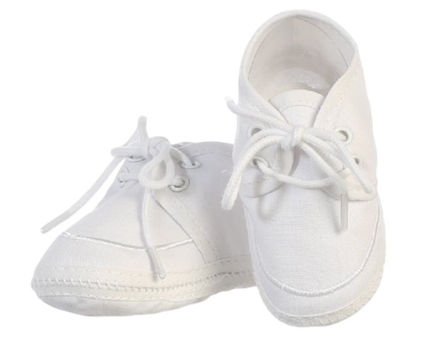 Cotton Oxford Style White Bootie Shoes Infant Boys