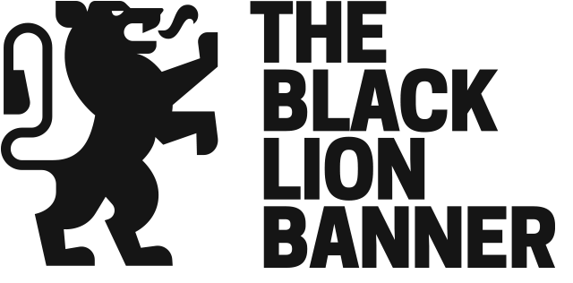 Black and white banner png. Lion medium