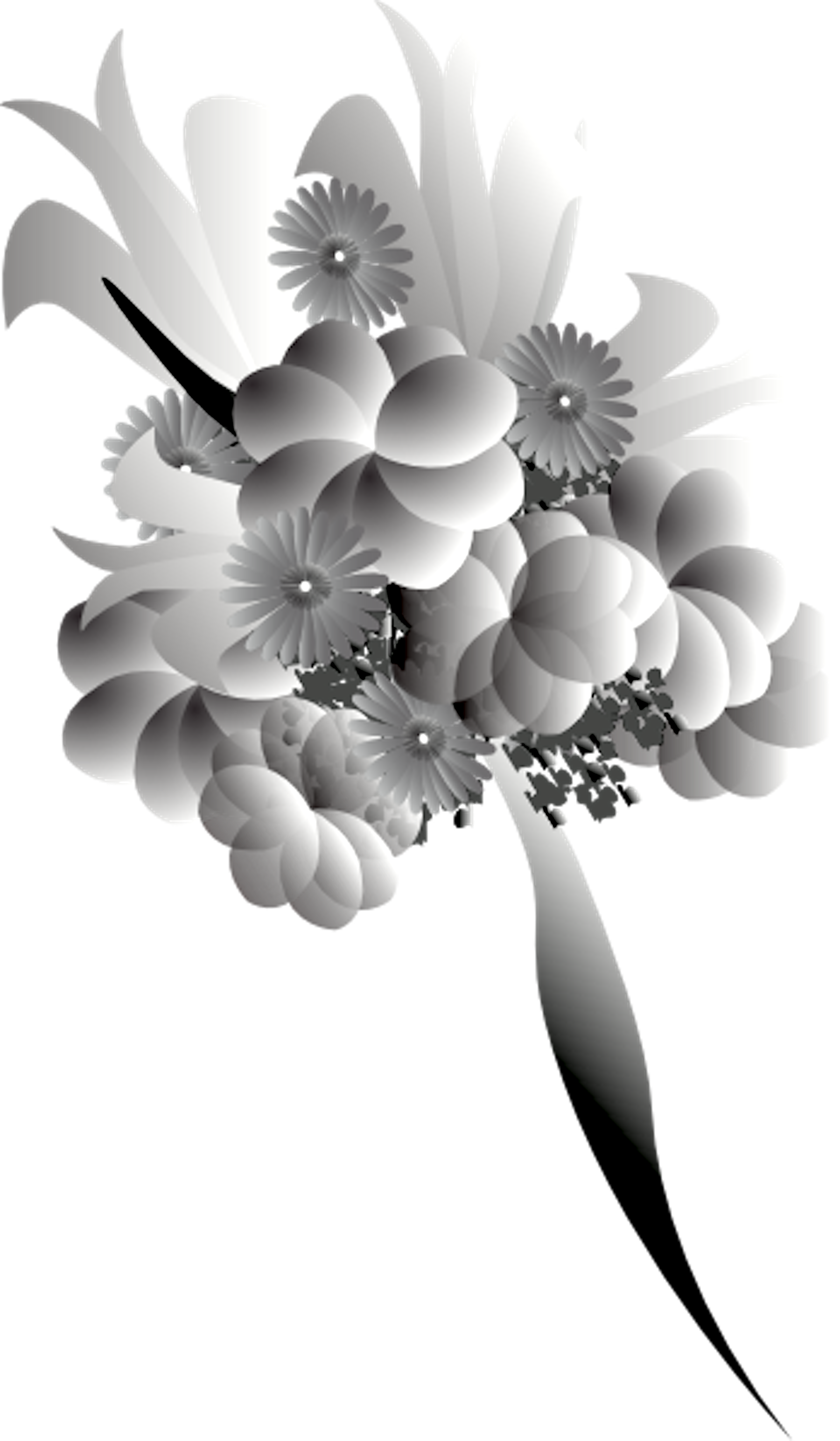 Bouquet vector black and white. Free images at clker