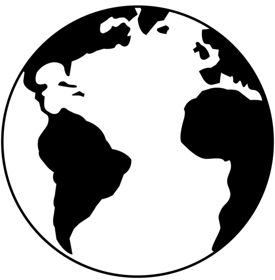 Black and white earth png. Free download clip art