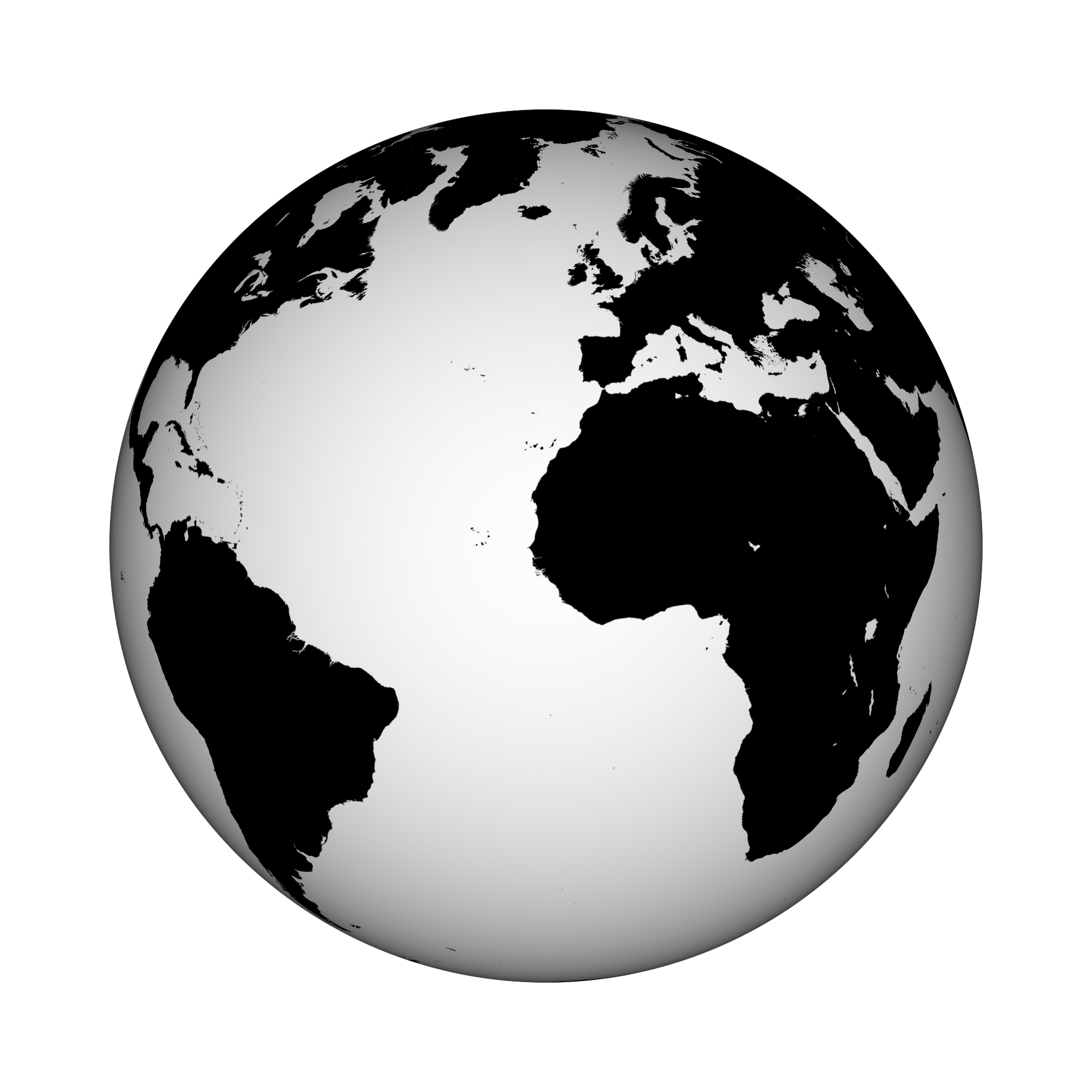 Black and white earth png. Transparent pictures free icons