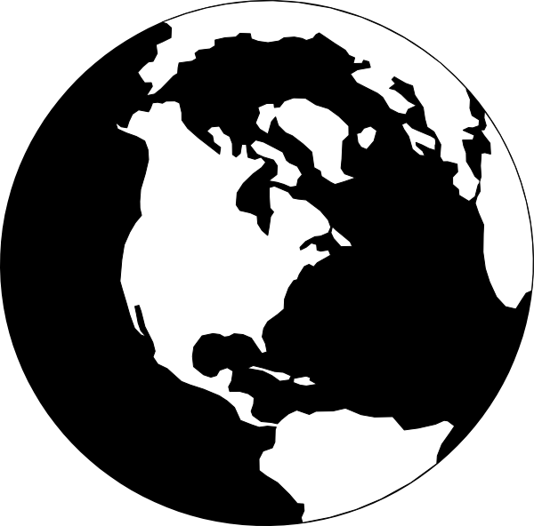 Black and white earth png. World clip art at