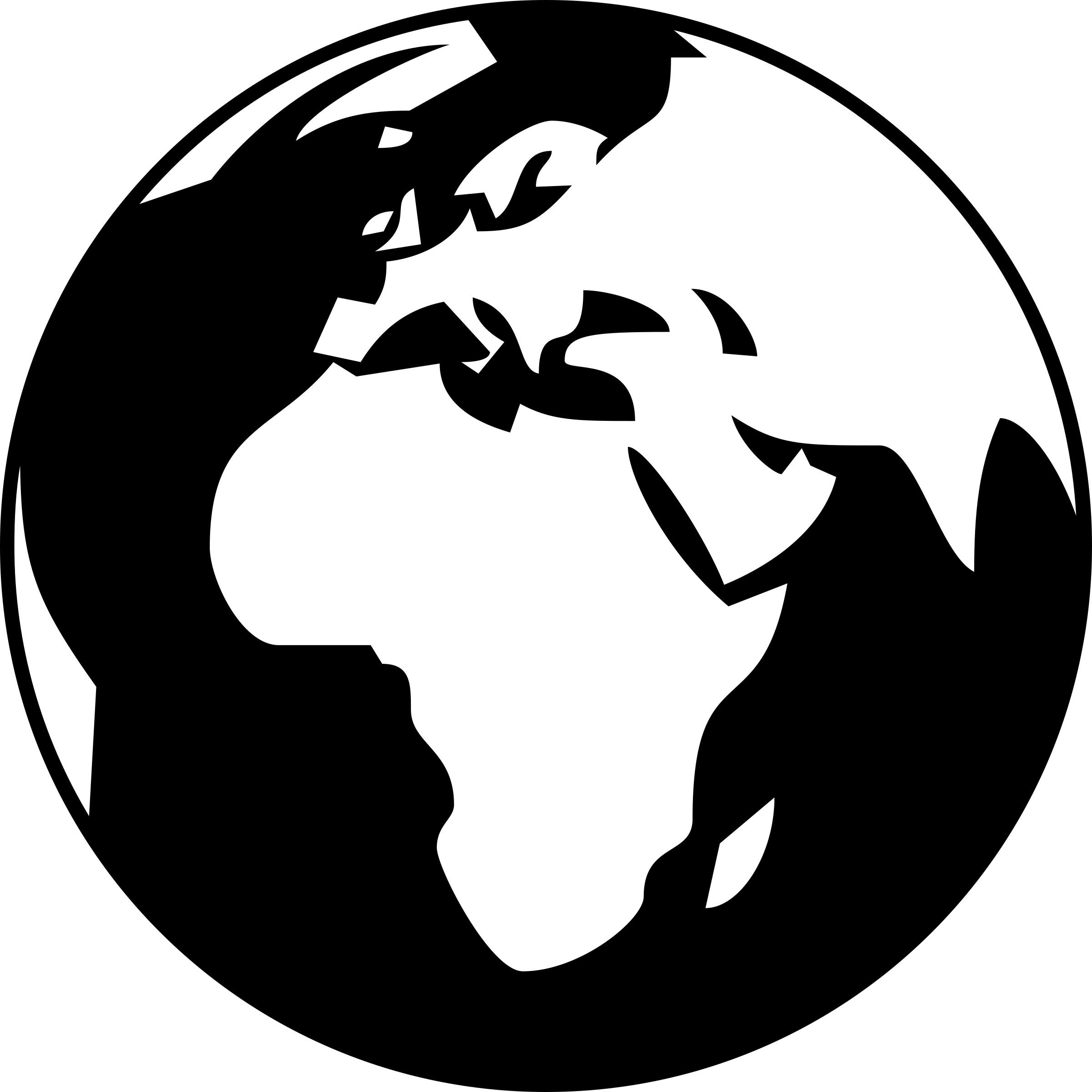 globe png black and white