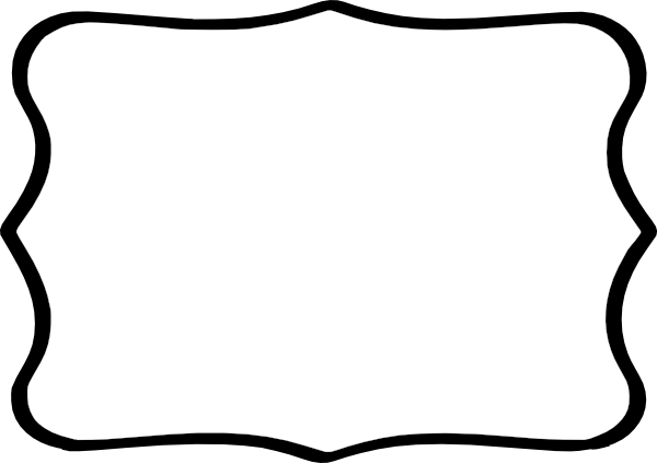 Black Frame White Center Clip Art at Clker