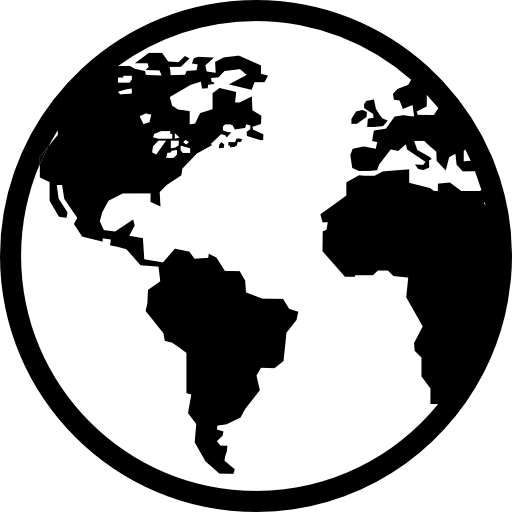 Earth free shapes icons. Black and white globe png banner download