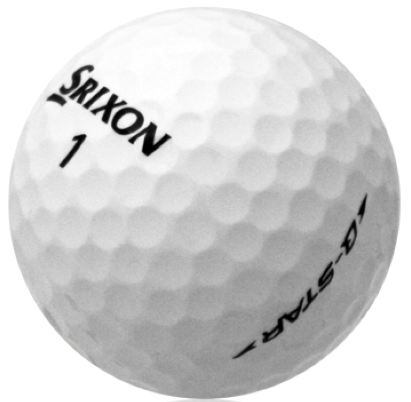 Black and white golf ball png. Srixon q star used