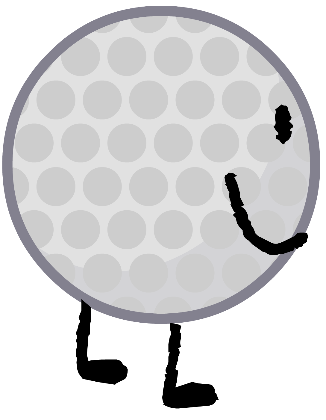 Black and white golf ball png. Image intro battle for
